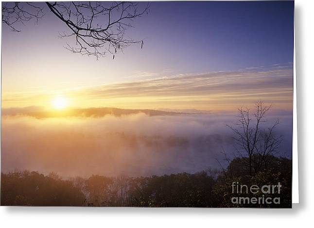 Day Breaks On The Ohio River - Fm000099 Greeting Card by Daniel Dempster