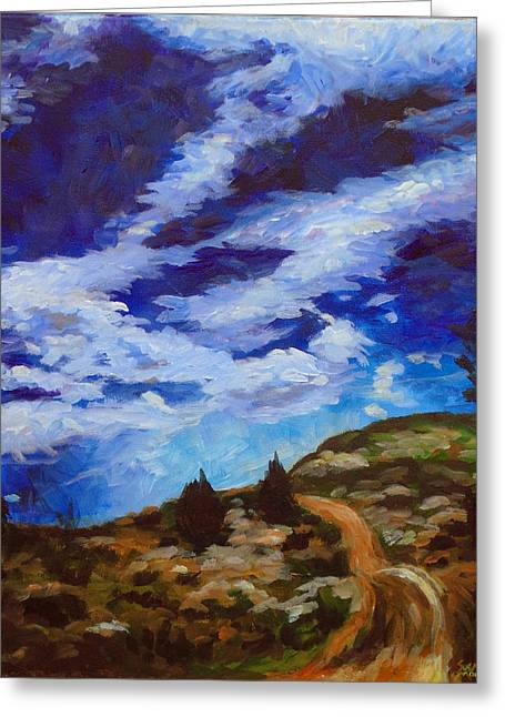 Day Hike Greeting Card by Susan Moore