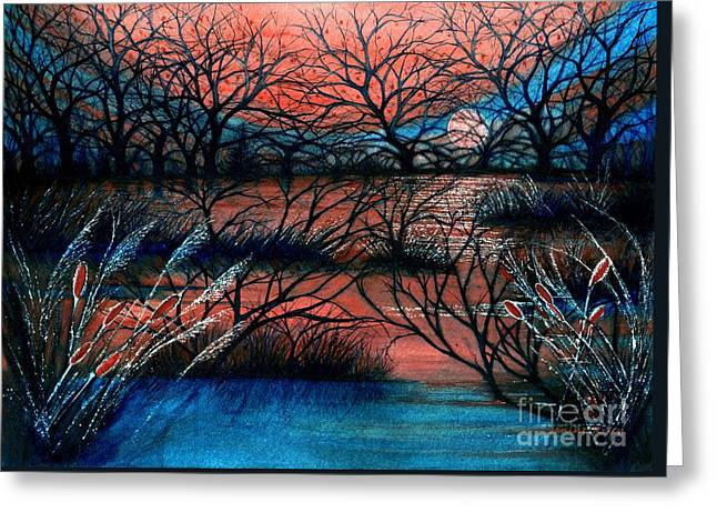 Day Is Done October Sky Greeting Card by Janine Riley
