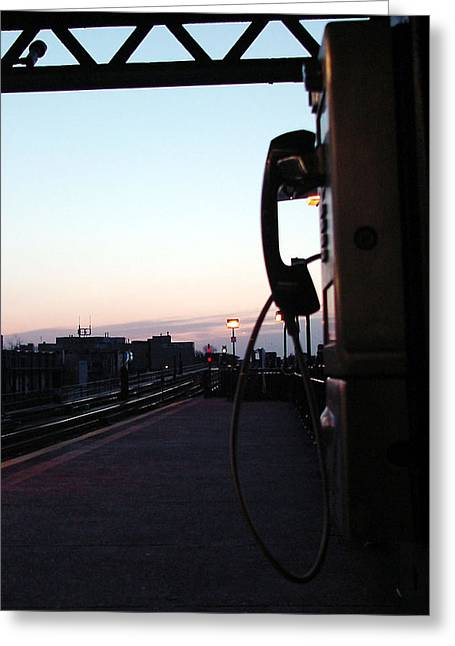 day is rising on NYC subway station Greeting Card by Mieczyslaw Rudek
