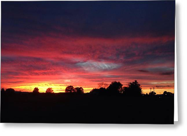 Day Lights End Greeting Card by Rick Solter