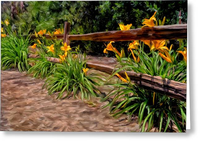 Day Lilies Greeting Card by Michael Pickett