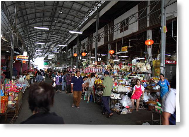 Day Market - Pak Chong Thailand - 011322 Greeting Card by DC Photographer