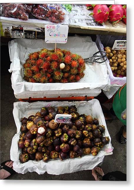 Day Market - Pak Chong Thailand - 011325 Greeting Card