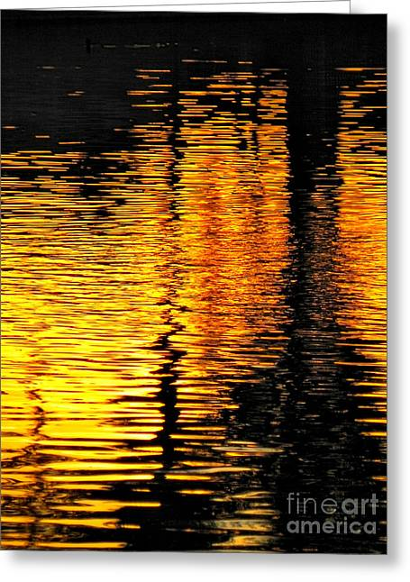 Day Of Reflection Greeting Card by Deb Halloran