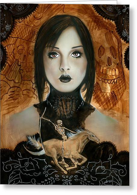 Day Of The Dead 2 Greeting Card by Luis  Navarro