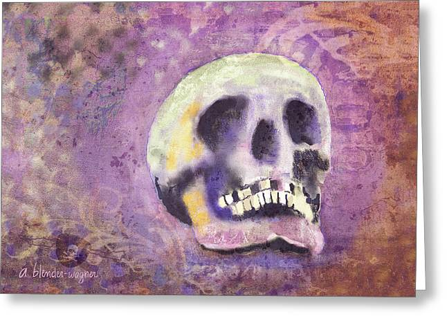 Greeting Card featuring the digital art Day Of The Dead by Arline Wagner