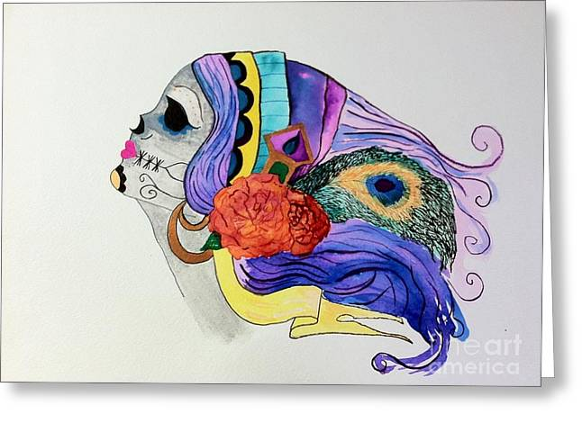 Day Of The Dead Lady 2 Greeting Card by Melissa Darnell Glowacki