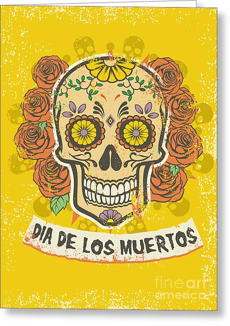 Day Of The Dead Poster Greeting Card