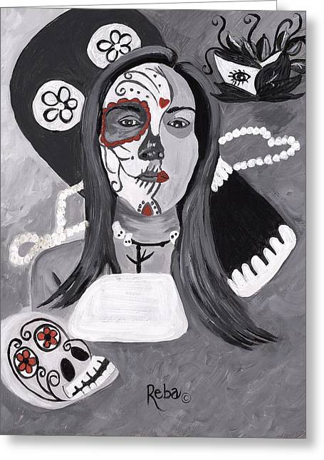 Day Of The Dead Greeting Card by Reba Baptist