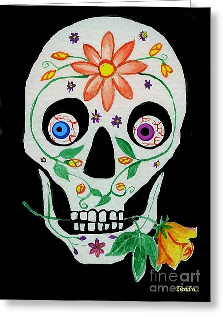 Day Of The Dead Skull 1 Greeting Card