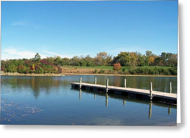 Day On The Lake Greeting Card by Teresa Schomig