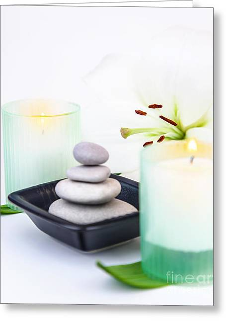 Day Spa Greeting Card by Anna Om