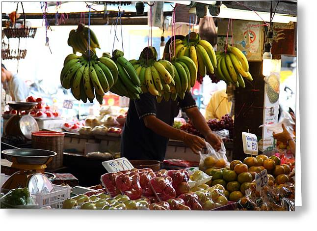 Day Street Market - Chiang Mai Thailand - 01139 Greeting Card by DC Photographer