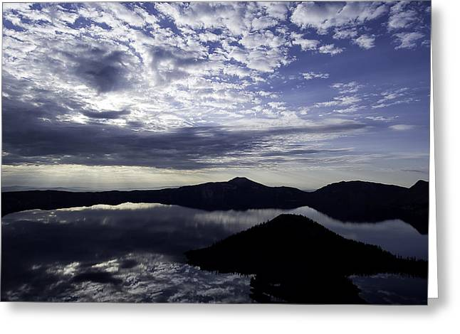 Daybreak At Crater Lake Greeting Card