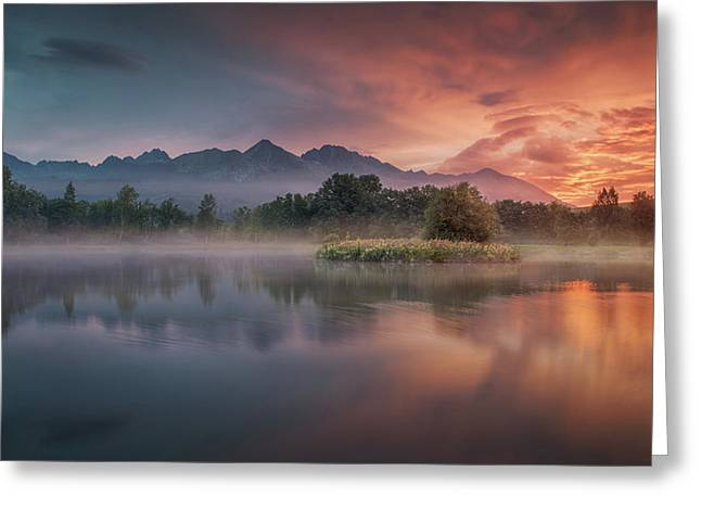 Daybreak By The Lake Greeting Card