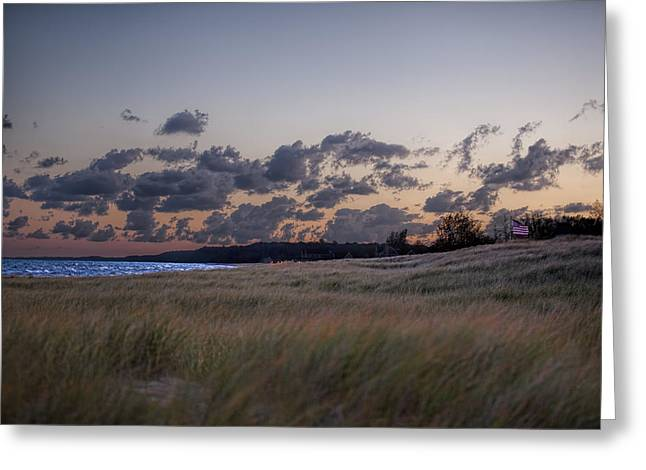 Daybreak In St Joseph Michigan Greeting Card by John Crothers