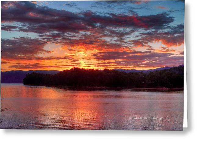 Daybreak Lake Ocoee Greeting Card by Paul Herrmann