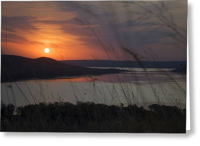 Daybreak On Glen Lake Greeting Card