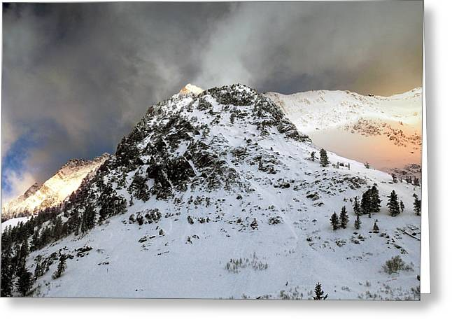 Greeting Card featuring the photograph Daybreak On The Mountain by Jim Hill