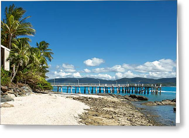 Daydream Island Pano Greeting Card by Shannon Rogers