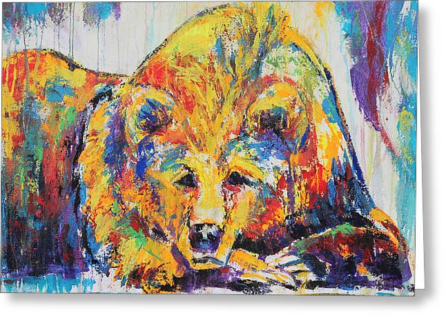 Daydreaming Bear Greeting Card