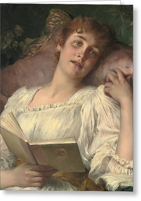 Daydreaming Greeting Card by Conrad Kiesel