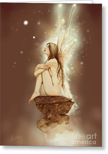 Daydreaming Faerie Greeting Card