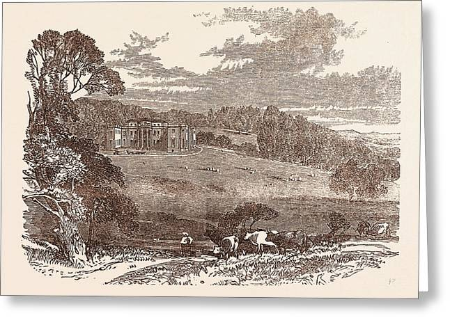 Daylesford House, Worcestershire, The Seat Of The Right Hon Greeting Card by English School