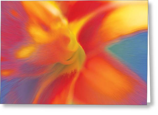 Greeting Card featuring the digital art Daylily by David Davies