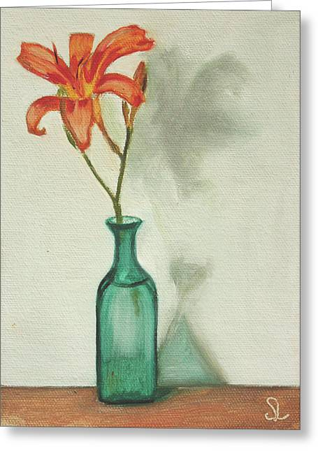 Daylily Greeting Card by Sarah Lynch