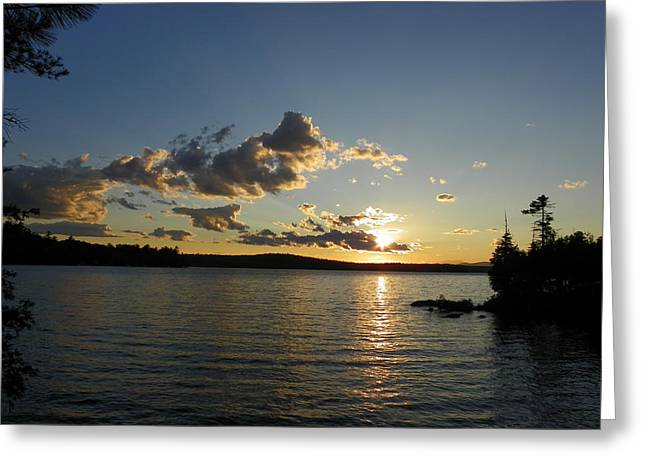Day's End At Schoodic Lake Greeting Card
