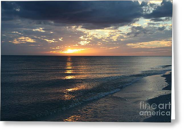Days End Over Sanibel Island Greeting Card