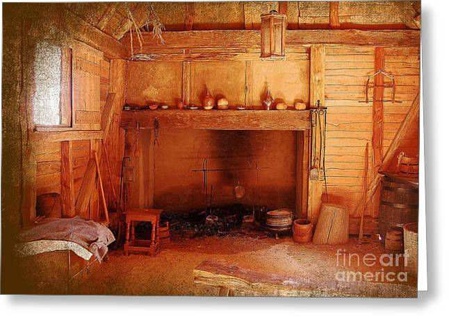 Greeting Card featuring the photograph Days Gone By - Charles Town Landing by Kathy Baccari