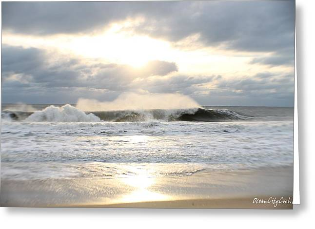 Day's Rolling Waves Greeting Card