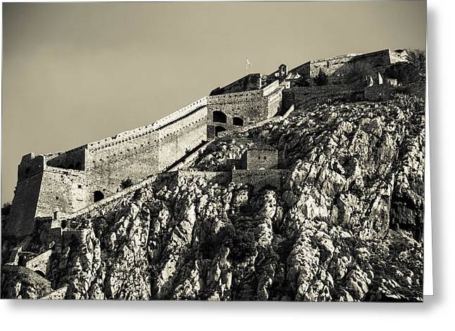 Daytime Palamidi Fortress  Greeting Card by David Waldo
