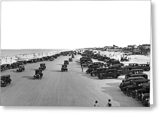 Daytona Beach, Florida. Greeting Card by Underwood Archives