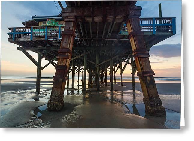 Daytona Beach Shores Pier Greeting Card