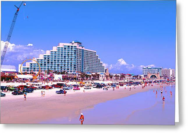 Greeting Card featuring the photograph Daytona Main Street Pier And Beach  by Tom Jelen