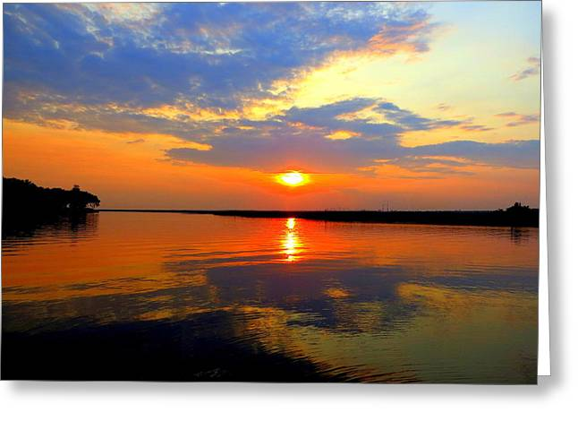 Dazzling End Of The Day Greeting Card
