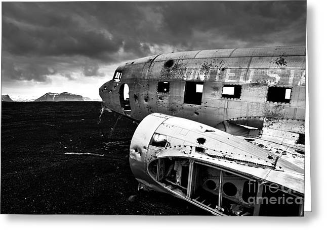 Greeting Card featuring the photograph Dc-3 Iceland by Gunnar Orn Arnason