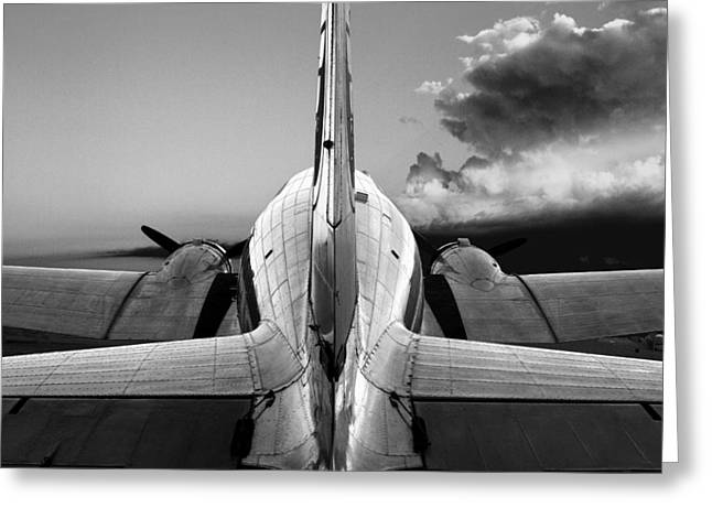 Dc-3 Rear View 1 Greeting Card