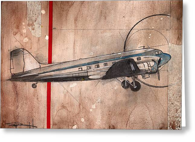 Dc-3 Greeting Card by Sean Parnell