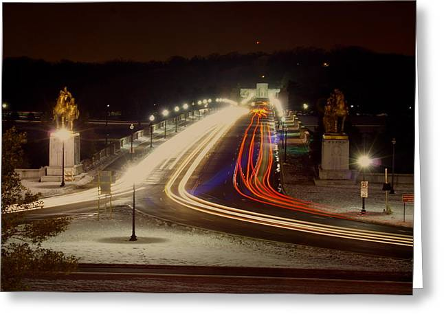 Dc At Night Greeting Card by Andrew Johnson