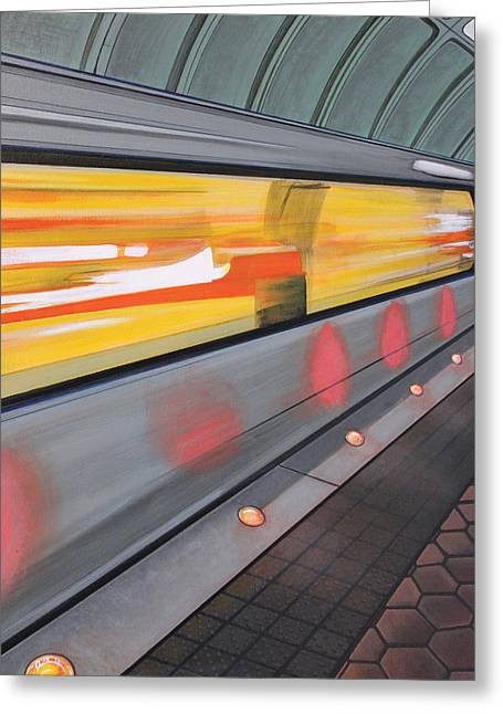 Dc Light Rail Greeting Card by Jude Labuszewski