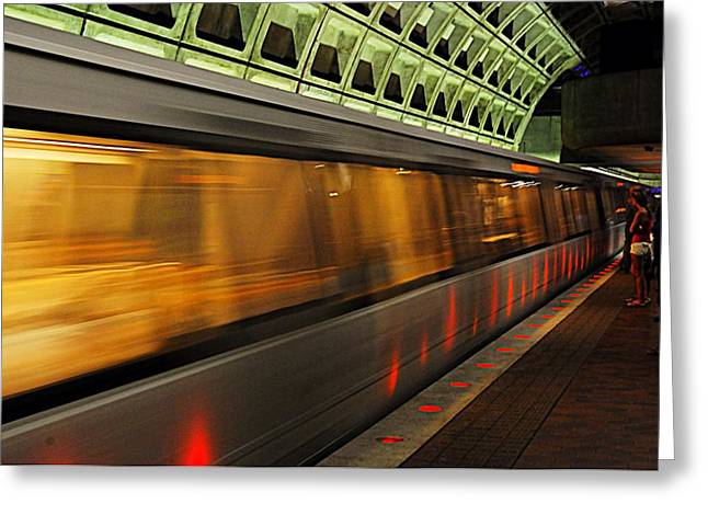 Dc Metro Greeting Card by Joe Scott