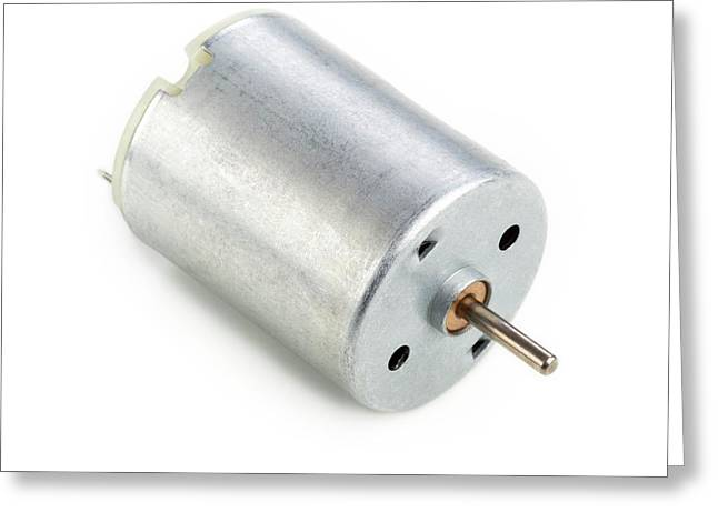 Dc Motor Greeting Card by Science Photo Library