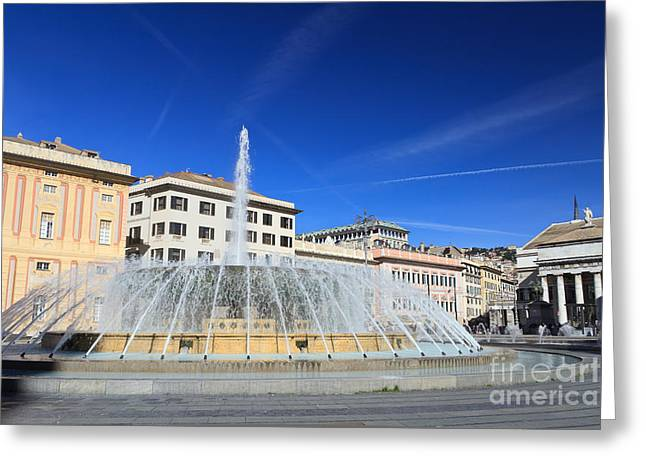 De Ferrari Square - Genova Greeting Card by Antonio Scarpi