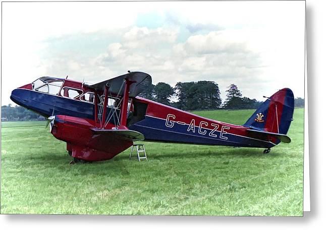De Havilland Dragon Rapide Greeting Card