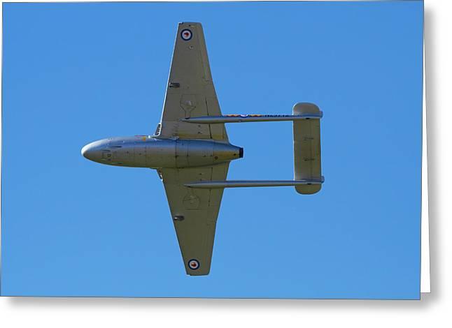 De Havilland Vampire Jet Attack Aircraft Greeting Card